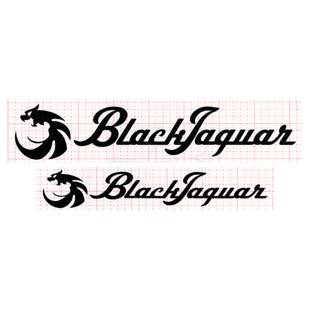 BLACK JAGUAR カッティングシール